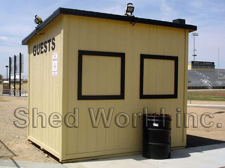 Government Amp Commercial Custom Wood Storage Shed And