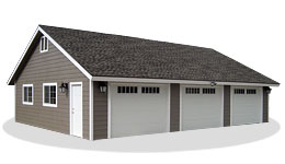 19 detached 3 car garage garage riverbend on the for 2 5 car garage cost